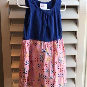 Hanna Andersson blue & pink tank dress 4T